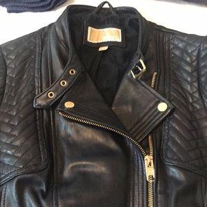 MICHAEL Michael Kors Jackets & Coats - Michael Michael Kors dark navy leather jacket
